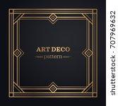 art deco frame background | Shutterstock .eps vector #707969632