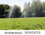 agricultural irrigation ... | Shutterstock . vector #707973772