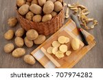 A Lot Of Potatoes In A Basket...