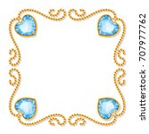 decorative frame with golden... | Shutterstock .eps vector #707977762