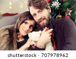 gorgeous couple in love at... | Shutterstock . vector #707978962