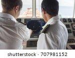 senior navigation officer... | Shutterstock . vector #707981152
