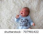 little newborn baby crying ...   Shutterstock . vector #707981422
