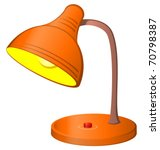 table retro electric lamp with...
