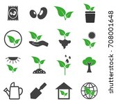 vector of plant icons set | Shutterstock .eps vector #708001648