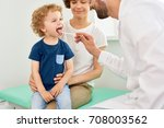 portrait of cheerful little boy ...   Shutterstock . vector #708003562