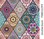 seamless pattern. vintage...   Shutterstock .eps vector #708012295