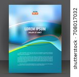 flyer brochure  cover layout... | Shutterstock .eps vector #708017032