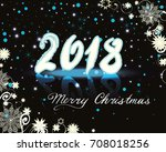 christmas and new years... | Shutterstock .eps vector #708018256