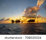offshore oil and gas platform... | Shutterstock . vector #708020326