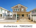 exterior view of new house... | Shutterstock . vector #708020602