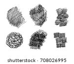 set of hand drawn scribble... | Shutterstock .eps vector #708026995