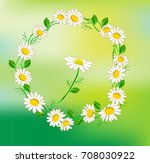 wreath with chamomile | Shutterstock .eps vector #708030922