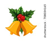 the christmas bell isolated on... | Shutterstock .eps vector #708034165