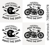 motorcycle with text four... | Shutterstock .eps vector #708034978