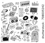 Set Of Music Doodle Isolated O...