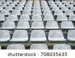 Pattern Of White Stadium Seats