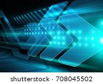 arrow speed technology concept  ... | Shutterstock .eps vector #708045502