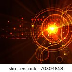 stylized glowing background... | Shutterstock . vector #70804858