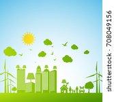 eco friendly concept  green... | Shutterstock .eps vector #708049156