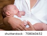 mom and baby are two months old | Shutterstock . vector #708060652