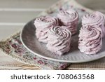 the homemade pink zephyr in... | Shutterstock . vector #708063568