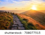 Sunrise Over Mam Tor In Peak...