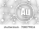 gold chemical element. sign...   Shutterstock . vector #708079816