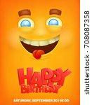 happy birthday greeting card... | Shutterstock .eps vector #708087358