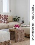 detail from caribbean home ... | Shutterstock . vector #708092062