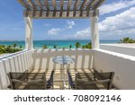 detail from caribbean home ... | Shutterstock . vector #708092146