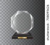 transparent realistic blank... | Shutterstock .eps vector #708095626