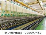 coarse cotton factory in... | Shutterstock . vector #708097462