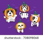cartoon happy halloween cute... | Shutterstock .eps vector #708098068