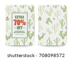 cactus sale poster and flyer... | Shutterstock .eps vector #708098572