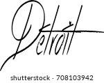 detroit text sign illustration... | Shutterstock .eps vector #708103942