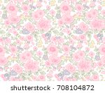 cute floral pattern in the... | Shutterstock .eps vector #708104872