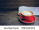 coffee shop cafe latte... | Shutterstock . vector #708106342