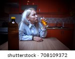 wide angle shot of sad... | Shutterstock . vector #708109372