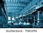 huge industrial space hosting a ... | Shutterstock . vector #7081096