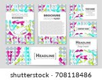 abstract vector layout... | Shutterstock .eps vector #708118486