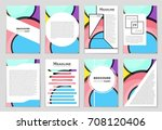 abstract vector layout... | Shutterstock .eps vector #708120406