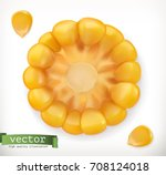 corn cross section and grain.... | Shutterstock .eps vector #708124018