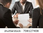 hr managers analyzing resume ... | Shutterstock . vector #708127408