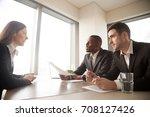 multinational hiring managers... | Shutterstock . vector #708127426