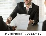 boss or human resources manager ... | Shutterstock . vector #708127462