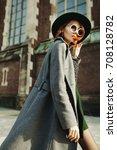 outdoor portrait of young... | Shutterstock . vector #708128782
