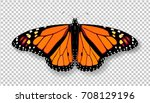 realistic 3d monarch butterfly. ...