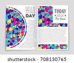 abstract vector layout... | Shutterstock .eps vector #708130765