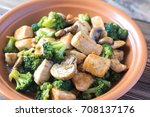 chicken and broccoli stir fry | Shutterstock . vector #708137176
